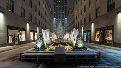 Rockefeller Center (20161217-DSC08813) (Michael.Lee.Pics.NYC) Tags: newyork rockefellercenter christmas holiday 2016 snow winter angels tree prometheus sony a7rm2 voigtlanderheliar15mmf45