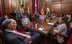 02-01-17 02-01-17 Governor Bentley meets with Alabama Law Institute Interns