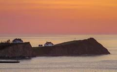 Summer Sunrise (Danny VB) Tags: summer percé québec canada sunrise ocean atlantic landscape house dannyboy ef70200mmf4lusm canon 7d summersunrise leverdesoleil
