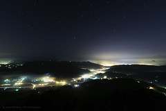 Magical Night glow (ELX_Images) Tags: asia citylights elxphotography landscape mountain nantun outdoor relax taiwan colors fog glow haze hiking hills holiday light longexposure magical mist nature night peaceful recreation serenity sky starts