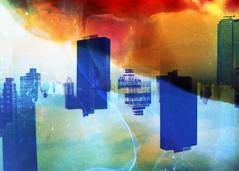 (mikehip) Tags: nyc manhattan new york city fall buildings double exposure film kodak splitzer holga color filmsoup abstract blue photo photography