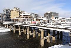 Kyoto Snow 三条大橋 (Sharpness-1) Tags: 京都 雪 三条 鴨川