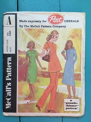 McCall's Post Pattern A (1576) (kittee) Tags: kittee vintagesewing vintagepatterns mccalls post postpatterna a 1576 poundsthinner misses size10 bust3212 1971 1970s dress tunic pants sidezipper ensemble set yseam shortsleeves longsleeves knits stretchknits wouldsell wouldtrade sewing