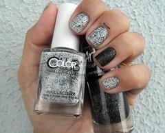 Mad Batter - Color Club + Eletro Night - Anita (Raabh Aquino) Tags: unhas esmaltes branco preto nails black white