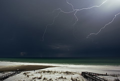 The Colors of Night (lightonthewater) Tags: lightning lightonthewater ocean storm sand seagrovebeach thunderstorm florida floridathunderstorm beach gulfofmexico