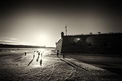 Sun. Shadows. Bastion - Солнце. Тени. Бастион (Valery Parshin) Tags: russia stpetersburg saintpetersburg canoneos600d canonefs1018mmf4556isstm sun blackandwhite sepia valeryparshin ice snow