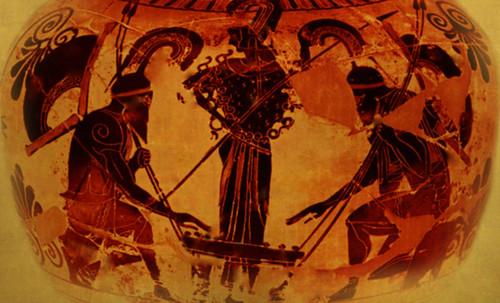 "Petteia - Ludus Latrunculorum  / Iconografía de las civilizaciones helenolatinas • <a style=""font-size:0.8em;"" href=""http://www.flickr.com/photos/30735181@N00/32522206885/"" target=""_blank"">View on Flickr</a>"
