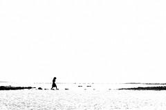 Crossing the bridge of emptiness (Aranya Ehsan) Tags: people highkey highlight exposure white monochrome minimalism bridge water sky background aranya shillhoute sillhoutte silhouette life lifestyle dailylife bangladesh chittagong