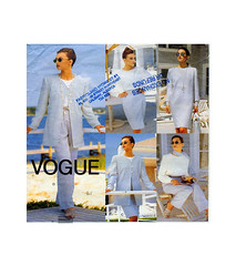 Vogue 1727 career clothing (FindCraftyPatterns) Tags: vogue1728 women longjacket wrapskirt widelegpants tunicdress longsleeveblouse sewingpattern plussize141618 career