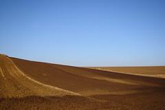 brown, brown and blue (Xtraphoto) Tags: braun brown blue field fields feld felder acker acre himmel landscape landschaft minimal minimalist