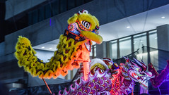 good and evil (pbo31) Tags: sanfrancisco california chinese newyear rooster 2017 february winter night parade boury pbo31 nikon d810 color dark kearnystreet dragon financialdistrict yellow purple