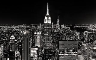 Lights of Manhattan B&W