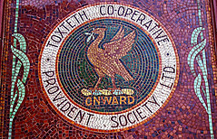 onward (SociétéRoyale) Tags: liverpool liver bird toxteth co op cooperative wavertree road picton tile mosaic old crest provident society onward socialism