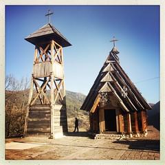 Drvengrad (sonofwalrus) Tags: iphone hipstamatic drvengrad serbia europe buildings architecture zlatibor