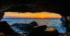 Back to The Bear Cave, 1st of 3 (George Plakides) Tags: cyprus cavogreco capegreco greko sunrise cave agioianargiroi sea sun ayioianargyroi ngc