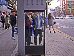 Bus stop (HARU1231) Tags: streetphoto snapshot snap street candid city urban color digital daejeon panasonicgf1 people busstop streetportrait southkorea