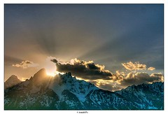 Before the Sunset (Arnold Pouteau's) Tags: sunset mountains clouds may wyoming teton tetons grandteton