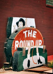 the round up taken down (Stew Dean) Tags: sign americana duluth roundup