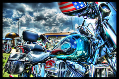 Stars and Bars (Stuck in Customs) Tags: blue rot austin nikon texas helmet harley harleydavidson motorcycle hog hdr hogs bestshot summerscenes rotbikerrally stuckincustoms thatotherpaper stuckincustomsgooglescreensaver