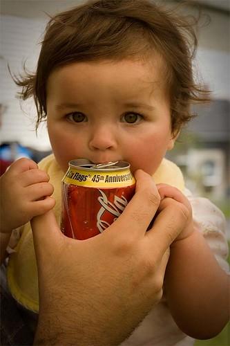 Enjoy -- baby cocacola child girl coke kid drink soda pop princessg person can