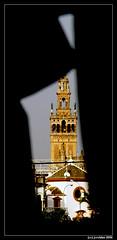 silueta de la giralda (J. Carlos Roldn) Tags: espaa contraluz sevilla spain torre silueta espagne e500 olumpus 40150mm jcroldan