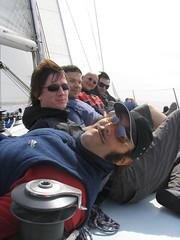 My sailboat crew... (Pat Rioux) Tags: barcelona people sailboat circus staff artists acrobats cirque cirquedusoleil dralion aroundtheworld europeantour