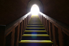 juliusturm - last steps to the light (extranoise) Tags: light berlin yellow stairs geotagged citadel steps symmetry spandau zitadelle sigma1020 geotoolgmif berlininthesixpack juliusturm geolat52540188 geolon13211760