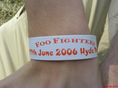 My Wristband For Foo Fighters Gig (rileyroxx) Tags: london me fun amazing concert hand arm gig hydepark wrist goldcircle foofighters wristband brilliant w00t queensofthestoneage qotsa innercircle bestdayever saturdayjune17th2006