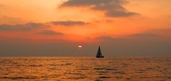 Sailing.... (ido1) Tags: sunset sea summer israel boat telaviv yacht horizon sail 4seasons