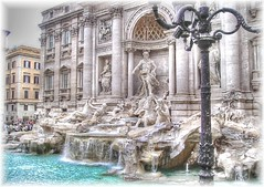 FOUNTAIN OF TREVI REVISITED (mariotto52) Tags: italy rome roma art monument water fountain wonderful effects topv333 italia statues trevi vision monuments hdr elaboration revisited photomatix tonemapping mariotto52