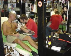 Tattooing at Dark Art, Budapest, Hungary (Needles and Sins (formerly Needled)) Tags: art tattoo dark hungary body budapest tattoos modification zsolt
