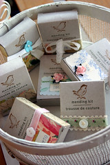 Little mending kits (fleamarketstudio) Tags: collage vintage scrapbooking studio collageart crafty alteredart thrifty homelife shabbychic mixedmediaart