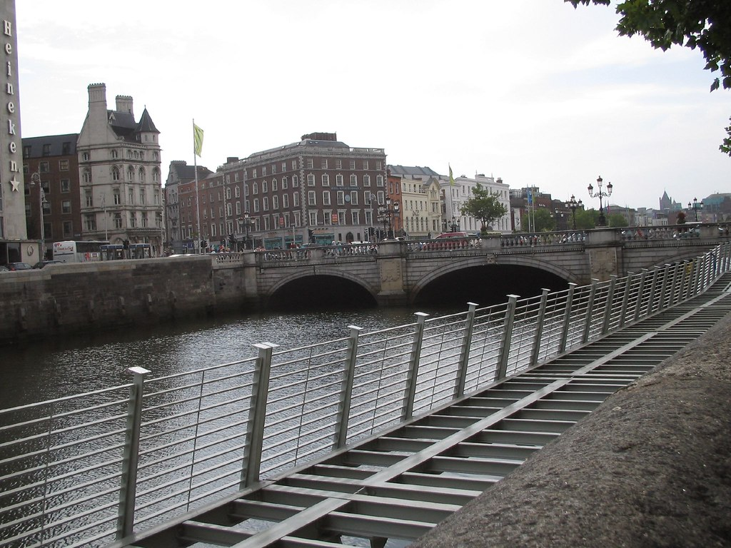 BOARDWALK ALONG THE RIVER LIFFEY