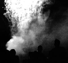 Collide, St. Paul, Minnesota (Seven Seconds Before Sunrise) Tags: people urban bw minnesota silhouette unitedstates fireworks stpaul twincities
