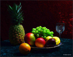 Fruit & Glass 2 (nomm de photo) Tags: stilllife fruit photoshopped digitalpainting variations digitallyaltered reinnomm pictorialism neopictorialism paintedphotographs