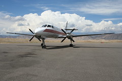 Fairchild Metro III (dbcnwa) Tags: plane airplane flying airport ramp colorado metro aircraft aviation feeder flugzeug fairchild avion turboprop grandjunction keylime swearingen aeronautical metroliner aeroplano lym gjt metroiii keylimeair kgjt grandjunctionairport
