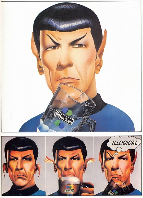 Philips Castle, Heineken ad, Star Trek's Mr Spock, 1975