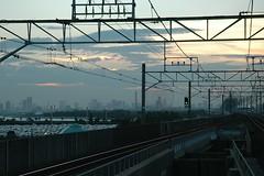 train line (michenv) Tags: 2005 slr japan digital train tokyo nikon asia d70 nikond70 disneyland michelle chiba ferriswheel digitalcamera dslr orient nikondigital digitalslr digitalphotos digitalphotography osanpocamera   nikonslr nikondslr  michenv maihamastation michenv2005