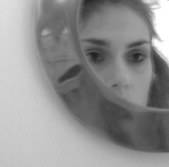 hide and seek (Livia Patta (la couleur de mes reves)) Tags: bw selfportrait girl digital mirror waiting escape lofi livia howaminotmyself calabroromagnoloromana ceciestlacouleurdemesreves sptrf liviapattaphotography