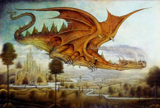 Wayne Anderson, Dragon Surveying Landscape