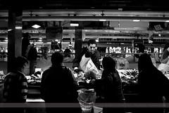 La Boqueria, Barcelona, Spain (Seven Seconds Before Sunrise) Tags: barcelona travel people bw food woman man spain europe market laboqueria