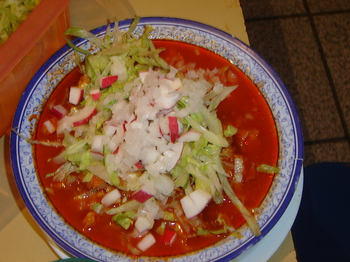 Bowl of Green Pozole