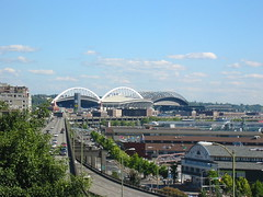 Seahawk's Stadium and Safeco Field (justinvp) Tags: safeco pikeplace
