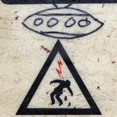 DANGER: Alien Abduction Area - by AlbinoFlea