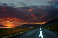 sunset road by hkvam