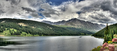 Mountain Reservoir Panorama (Scott Ingram Photography) Tags: blue panorama mountain geotagged colorado peak reservoir 300 hdr bestofthebest photostitch 3x photomatix tonemapped hdrpano geo:lat=39412722 geo:lon=106175394 coloradolandscapes coloradoart sipbotbfs coloradolandscapeimages coloradolandscapeart