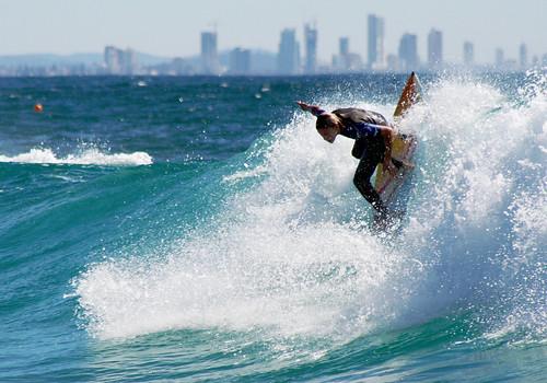 Surfing at Gold Coast, Queensland