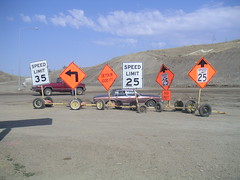 No Confusion Here (facebook.com/biketourist) Tags: signs construction highway montana confusion trafficsigns