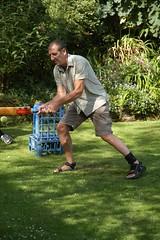 Dave square cuts (Johnny2bad) Tags: summer dave garden manchester farm great rob lancashire cricket batting goodtimes wigan billinge greenslate j2b johnny2bad