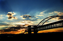 stairway... (Kelly Angard) Tags: bridge sunset sky canon drive colorado heaven arch dusk denver stairway freeway kreativekell kellya kellyangard utatasilhouette 25freeway efs1755mm kellyafineartphotography digitalrebelxtefs1755mm